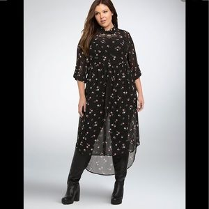 Torrid Floral Chiffon Tunic - Season of the witch